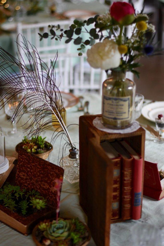 Centres de table mariage vintage_Wedding planner éthique responsable Bretagne