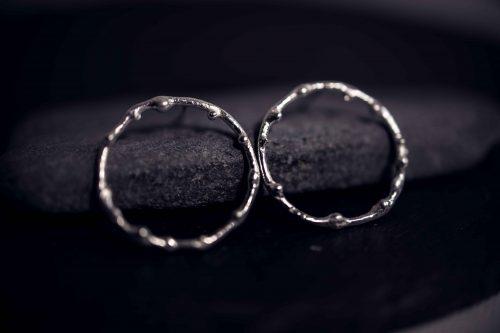 Alliances mariage or gris