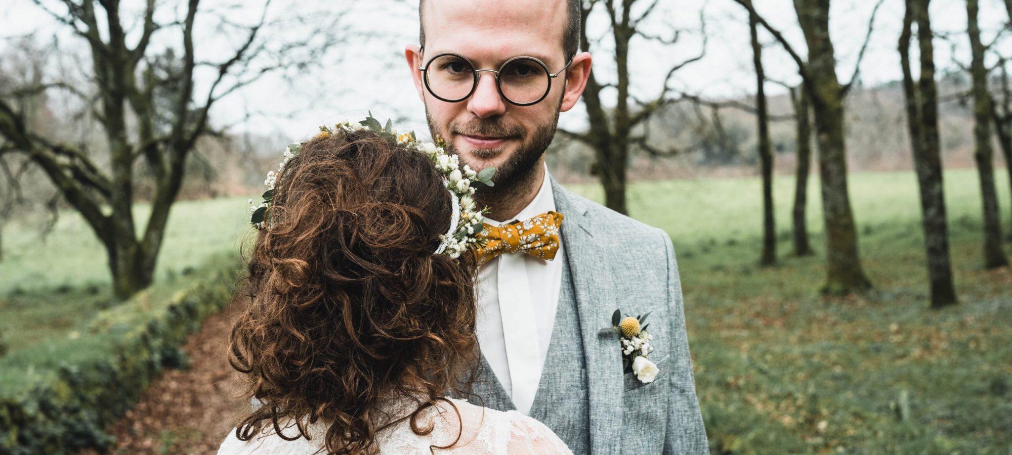 Mariage nature responsable Bretagne séance photo couple